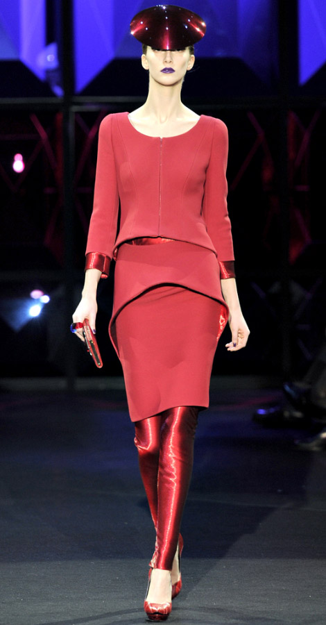 Armani Prive Couture Spring Summer 2011 collection Alana Zimmer