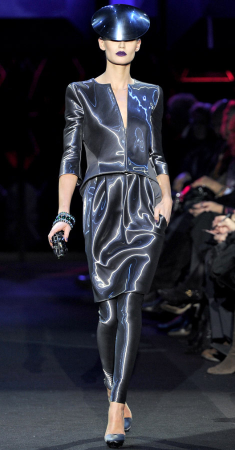 Armani Prive Couture Spring Summer 2011 collection Bianca Balti