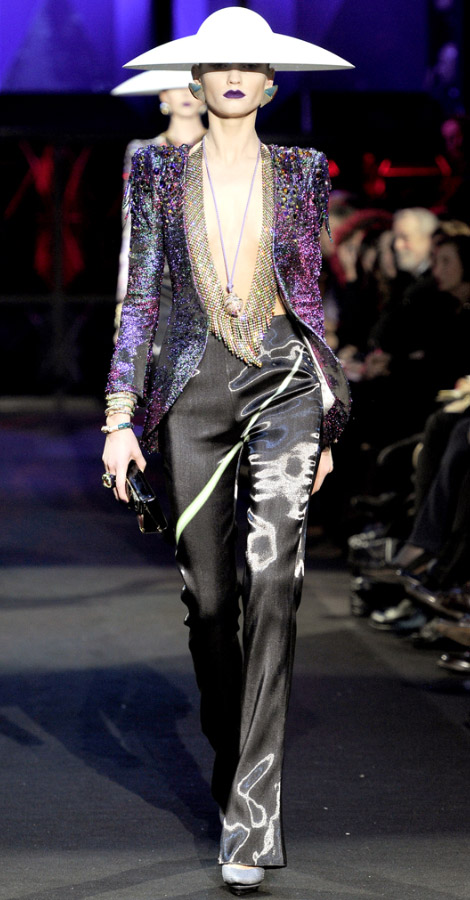 Armani Prive Couture Spring Summer 2011 collection Laura Blokhina