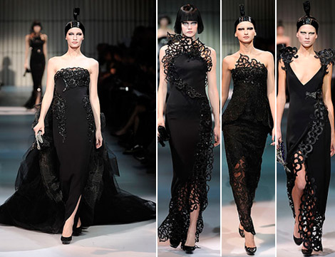 Armani Prive Haute Couture Spring 2009 collection black 1