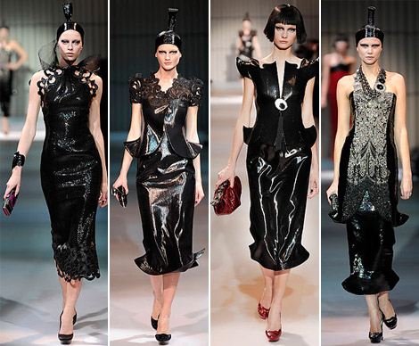 Armani Prive Haute Couture Spring 2009 collection black 2