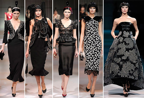 Armani Prive Haute Couture Spring 2009 collection black 3