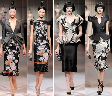Armani Prive Haute Couture Spring 2009 collection black 4