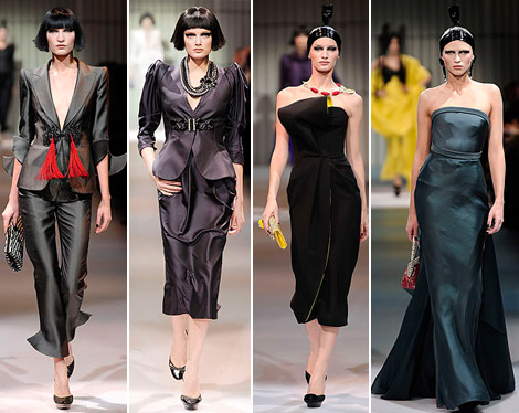 Armani Prive Haute Couture Spring 2009 collection black 5