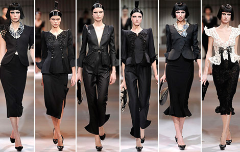 Armani Prive Haute Couture Spring 2009 collection black 6