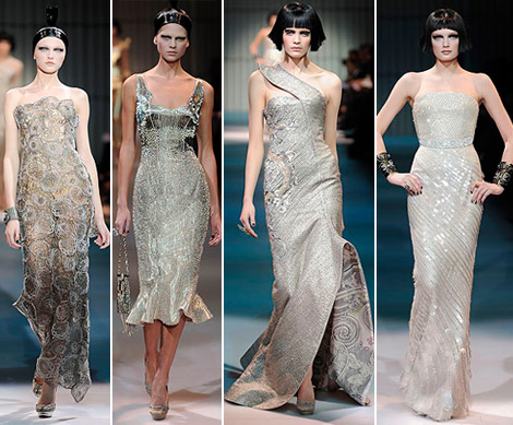 Armani Prive Haute Couture Spring 2009 collection metallic 1