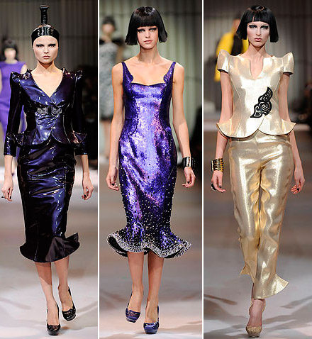Armani Prive Haute Couture Spring 2009 collection metallic 3