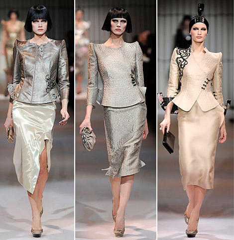 Armani Prive Haute Couture Spring 2009 collection metallic 6
