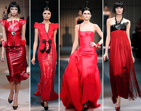 Armani Prive Haute Couture Spring 2009 collection red