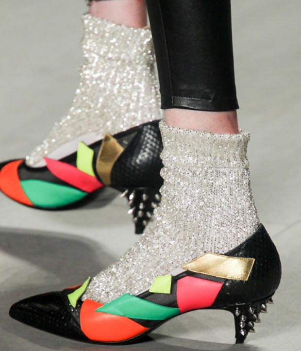art deco shoes Saint Laurent Spring Summer 2014