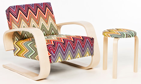 Artek Tank Chair and Stool Missoni