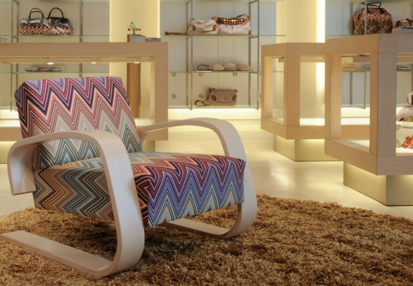 Artek Tank Chair Missoni exhibition