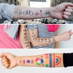 artsy cool temporary tattoos