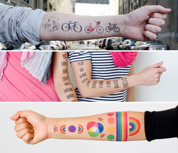 Get Your Artsty Cool Tattoo! Temporarly Tattly
