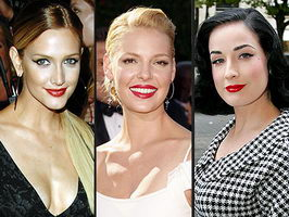 Ashlee Simpson Katherine Heigl Dita Von Teese red lips