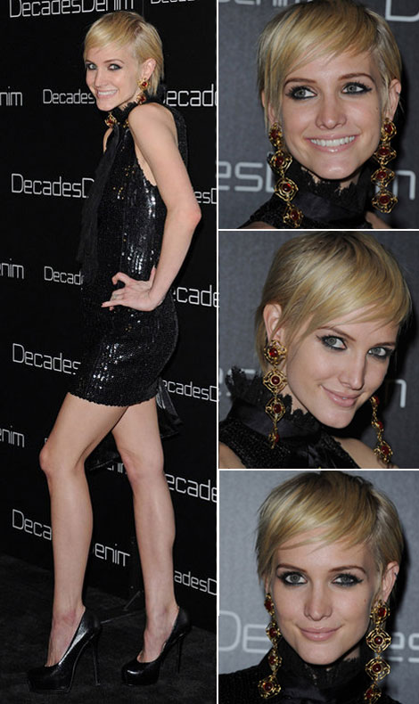 Ashlee Simpson new short haircut