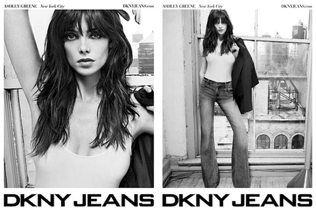 Ashley Greene DKNY Jeans Spring 2012 ad campaign photos