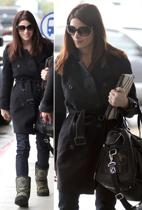 Ashley Greene Jimmy Choo UGG Burberry iPad sleeve