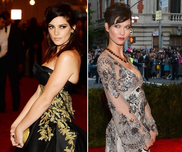 Ashley Greene Karlie Kloss punk hairdos 2013 Met Gala