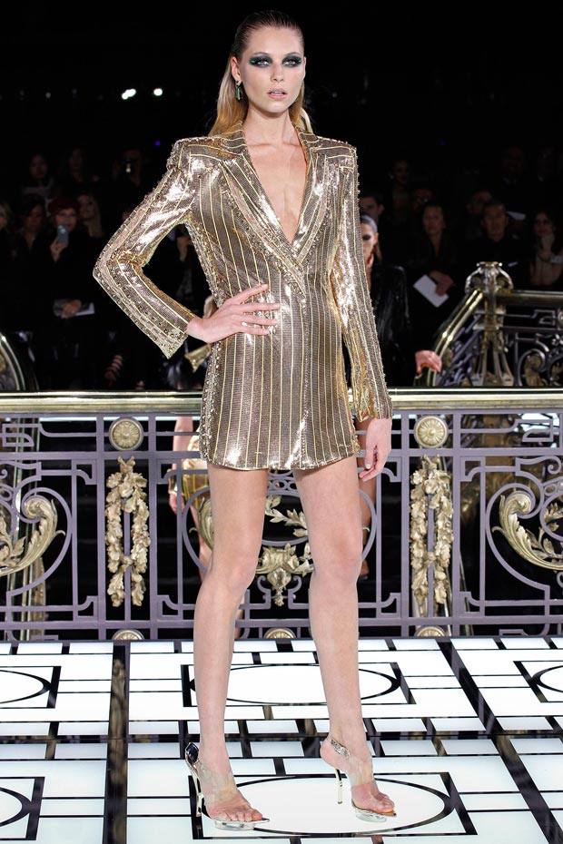 Atelier Versace Spring 2013 golden jacket dress