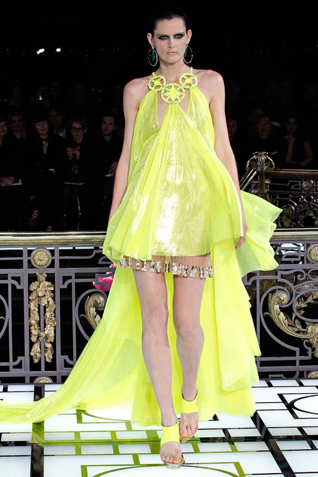 Atelier Versace Spring 2013 shiny yellow