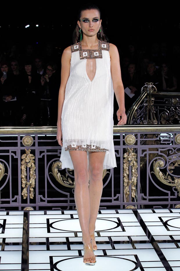 Atelier Versace Spring 2013 white Grecian dress