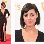 Aubrey Plaza 2015 Emmy Awards Red Carpet hairdo