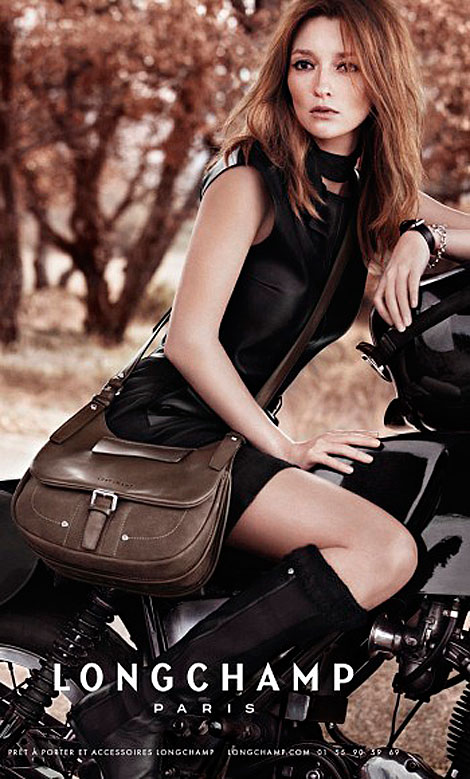 Audrey Marnay Longchamp Fall Winter 2011 2012 Ad Campaign