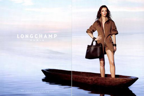 Audrey Marnay Longchamp Spring Summer 2011 ad campaign