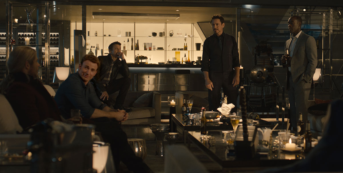 Avengers Age of Ultron party scene