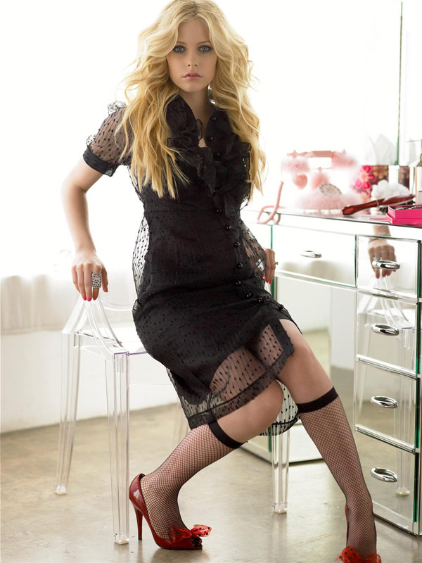 Avril Lavigne Lace dress socks