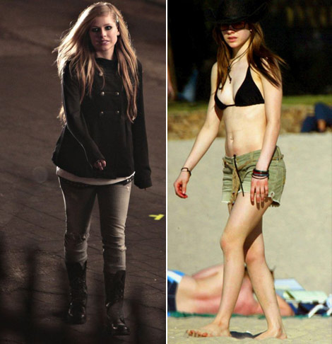 Avril Lavigne then now