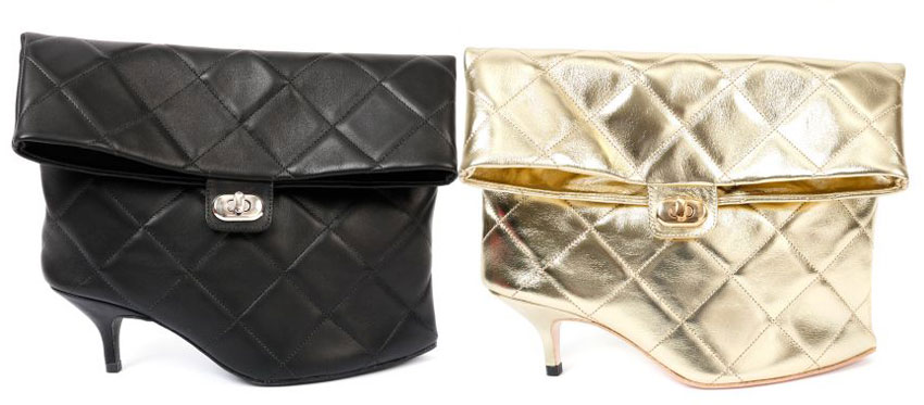 Azumi and David shoe clutch 2