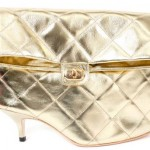 Azumi and David shoe clutch golden