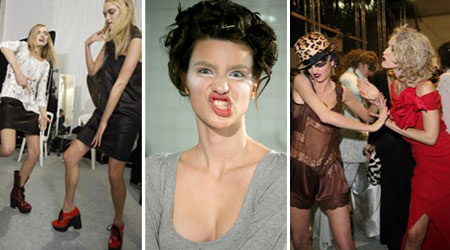 Backstage Photos with Models going crazy