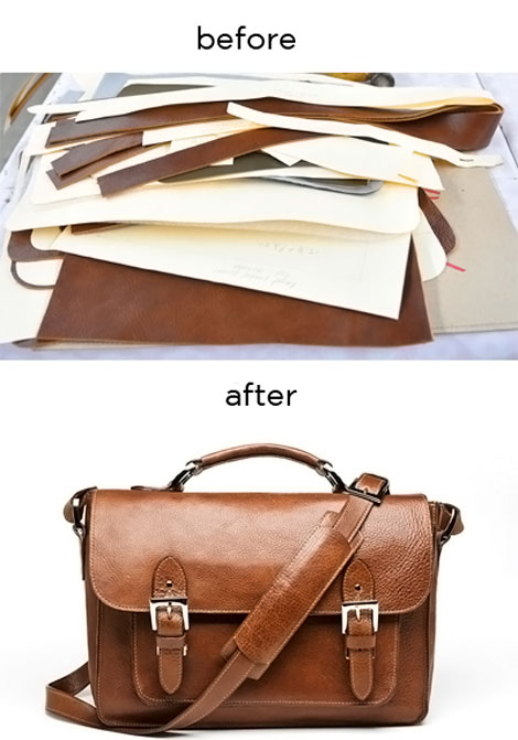 bags before and after