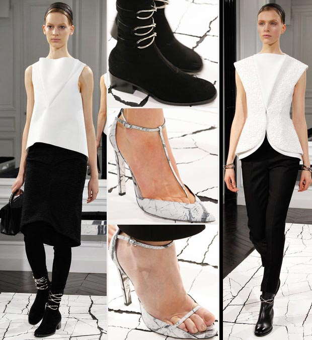 Wang Debuts Balenciaga Fall 2013 Black & White Somber Collection