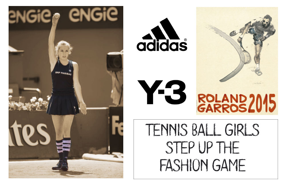 ball girls Roland Garros Adidas Y 3