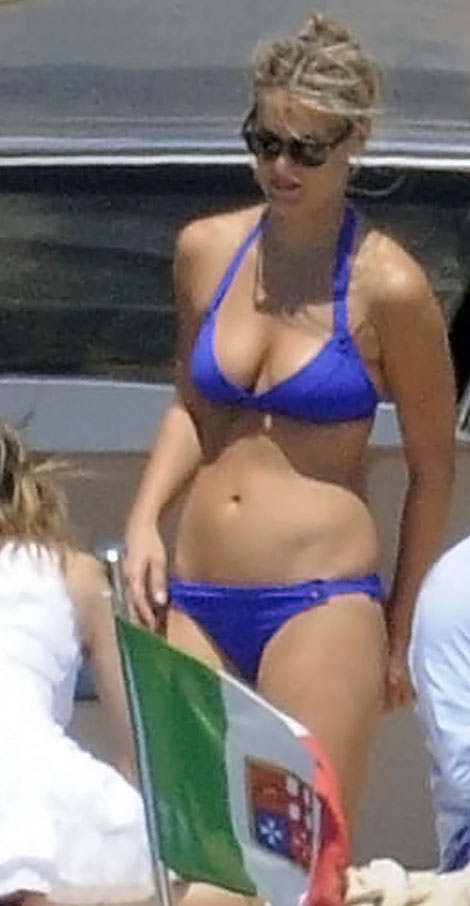 Bar Refaeli Little Blue Bikini