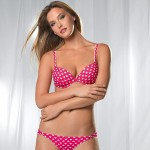 Bar Refaeli Marks and Spencer lingerie ads Valentine s Day pink polka
