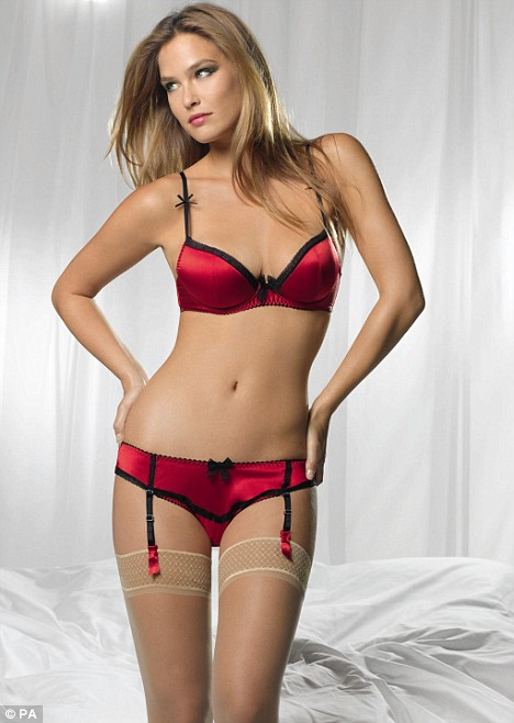 Bar Refaeli Marks and Spencer lingerie ads Valentine s Day Red