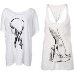 Barbara Hulaniki Topshop Summer 09 tshirts
