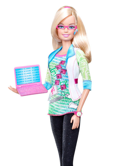 Barbie, The Computer Geek. Barbie, The News Anchor