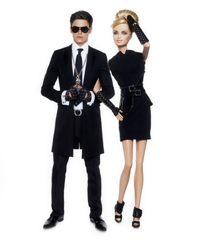 Barbie Ken Karl Lagerfeld black