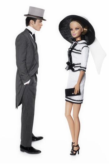 Barbie Ken Karl Lagerfeld Chanel