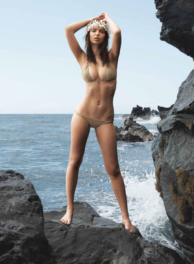 barely there swimsuit Emily Ratajkowski GQ US July 2014