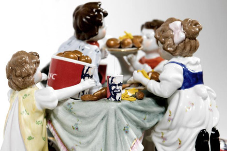 Barnaby Barford porcelain figurines kfc