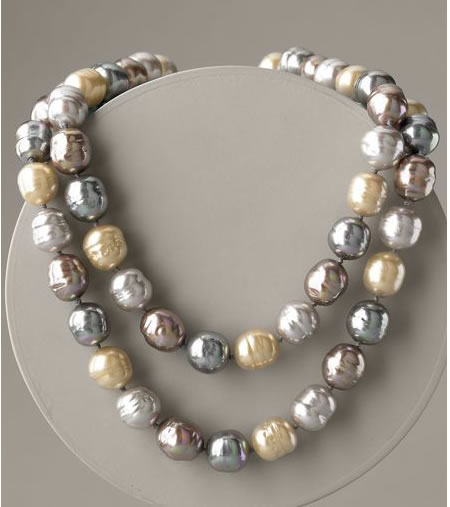 Baroque Pearl Necklace Majorica