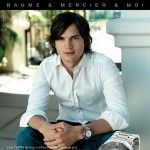 Baume & Mercier advertising campaign featuring Ashton Kutcher