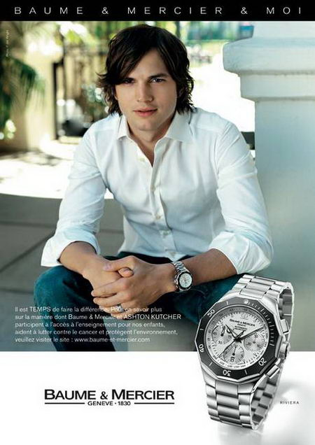 Teri Hatcher and Ashton Kutcher Promoting Baume et Mercier Watches